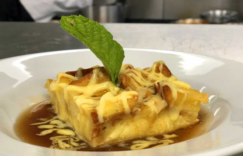 Restaurant in Benicia serves excellent bread pudding