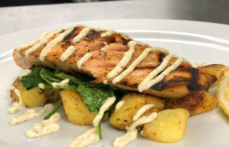 Great dining in benicia ca. enjoy fantastic salmon